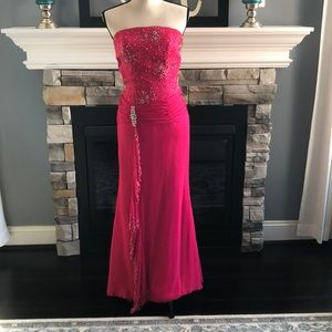 Hot pink formal gown